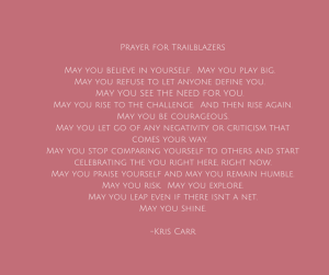 Prayer for Trailblazers